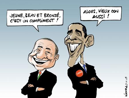 Silvio et Barack