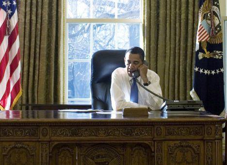 Barack Obama dans le bureau ovale