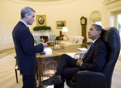 Barack Obama et Rahm Emanuel