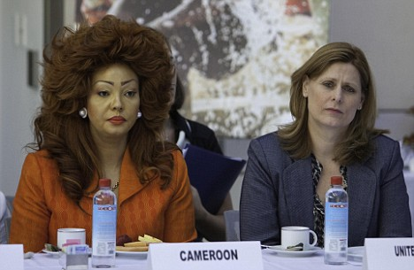 Chantal Biya et Sarah Brown