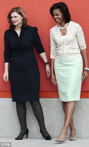 Sarah Brown et Michelle Obama
