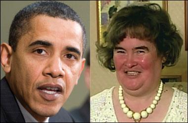 Barack Obama et Susan Boyle