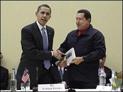 Obama et Chavez