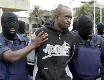 Y. Fofana lors de son arrestation en Côte-d'Ivoire