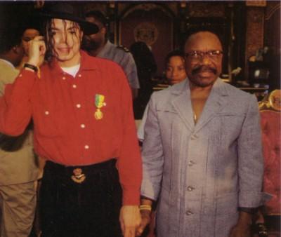 Michaël Jackson et Omar Bongo