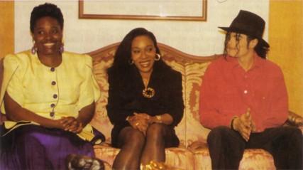 Pascaline Bongo (au centre) et Michaël Jackson