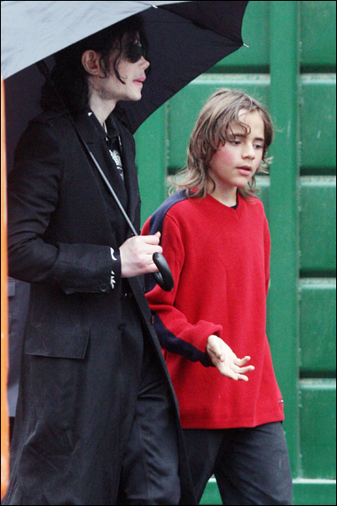 Michaëm Jackson et son fils Prince Michaël I