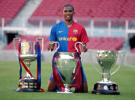 Samuel Eto'o 2009 : Coupe du Roi, Champion d'Espagne, vainqueur de la Champions league