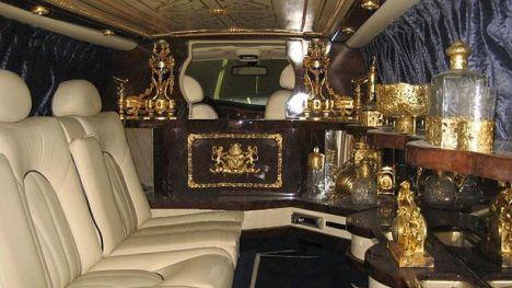 Intérieur de la limousine